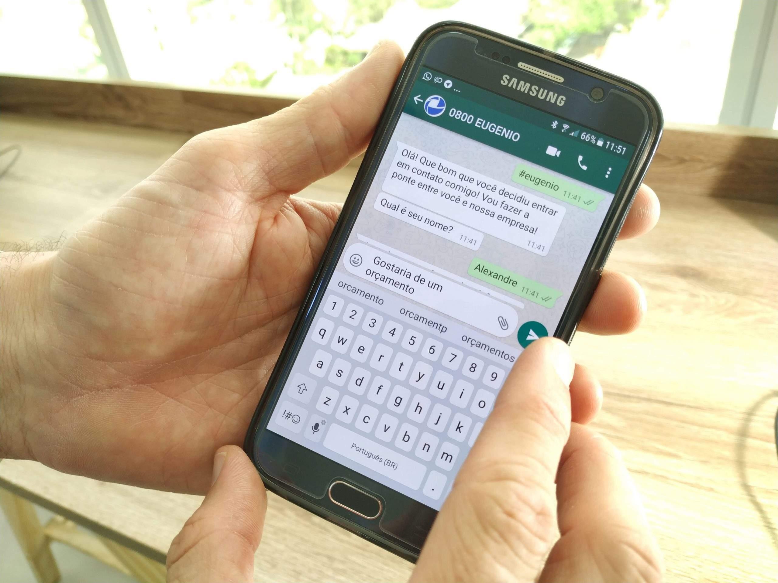 O que é e como funciona o 0800EUGENIO para WhatsApp