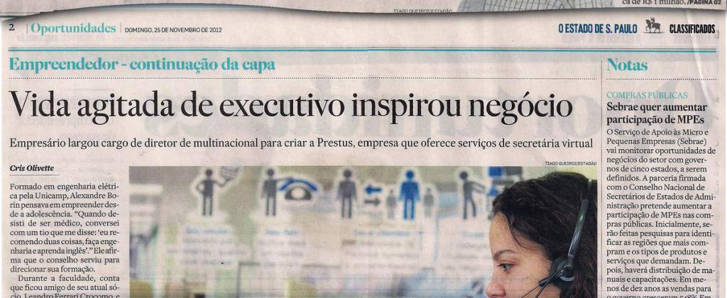 Prestus no jornal Estadão pt 2