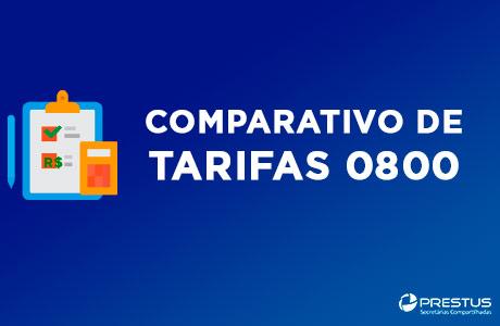 Baixar Comparativo de tarifas número 0800
